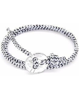 White Noir Lerwick Silver & Rope Bracelet