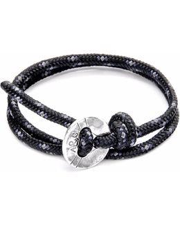 Black Lerwick Silver & Rope Bracelet