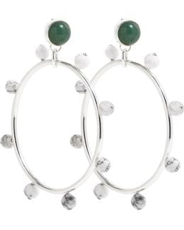 Riff Hoops Silver Green & White