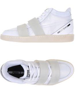 Neoprene Mid-Top Sneakers