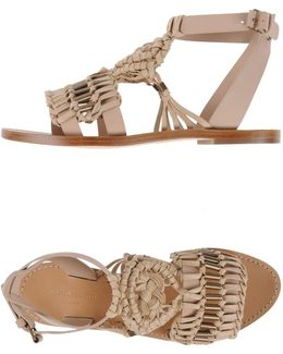 Woven-Leather Sandals