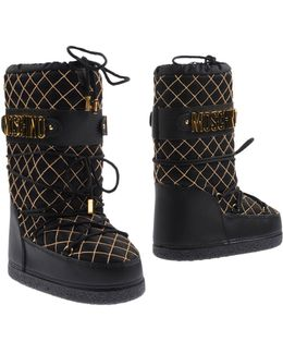 Chain Quilted Logo Snow Boots