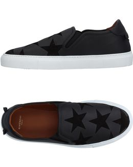 Starred Sued And Leather Sneakers