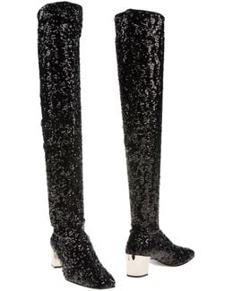 Polly Sequined Over-the-knee Boot