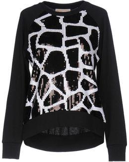 Black And White Paillettes Sweatshirt