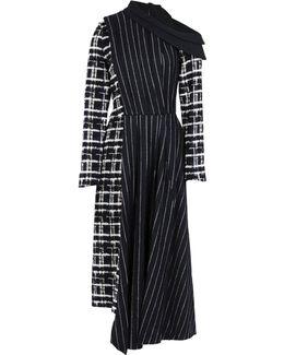 Women's Long Pinstripe Dress In Black