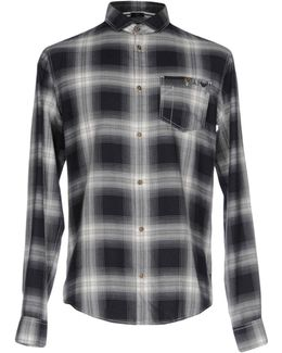 One Pocket Long Sleeve Check Shirt