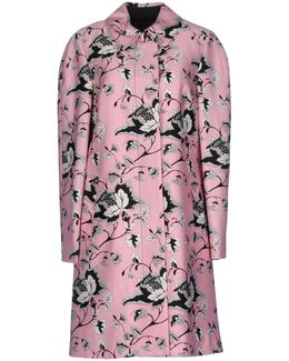 Amana Printed Wool And Silk-blend Coat