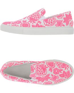 Floral-Print Canvas Low-Top Sneakers