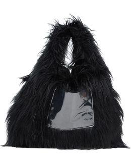 Triangle Faux-Fur Shopper Tote