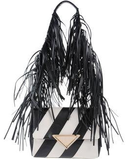 Striped Fringe Shoulder Bag