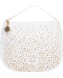 Embellished Leather Tote Bag