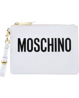 Logo Clutch Bag
