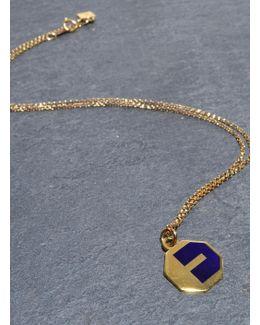Navy Alphabet Pendant: E