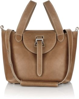 Mini Thela In Light Tan With Contrast Stitching