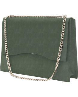 Aden Shoulder Bag In Olive Suede