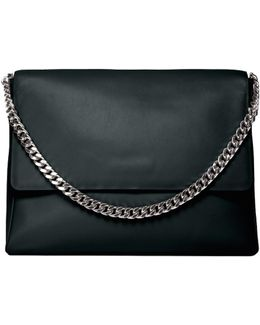 Yael Black Leather Bag With Silver (last One)