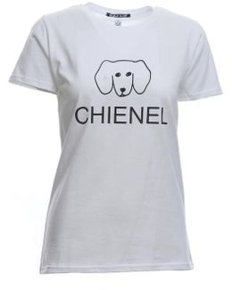 Chienel Tee In White