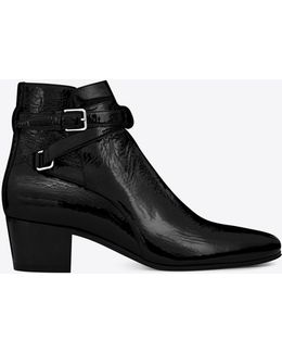 Signature Blake 40 Jodhpur Boot In Black Patent Leather