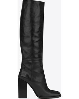 Jodie 105 Knee-high Boot In Black Leather