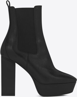 Vika 95 Chelsea Ankle Boot In Black Leather