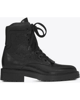 William 25 Front Zip Boot In Black Leather