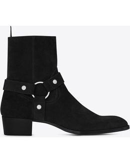 Wyatt40 Harness Boot In Black Suede