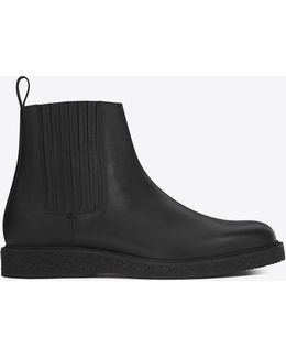 Hugo 25 Chelsea Boot In Black Grained Leather