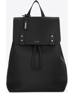 Sac De Jour Souple Backpack In Black Grained Leather