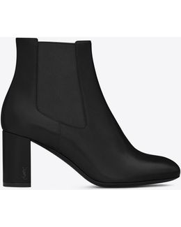 Loulou 70 Chelsea Ankle Boot In Black Leather