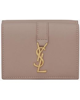 Ysl Petite Wallet In Rose Leather