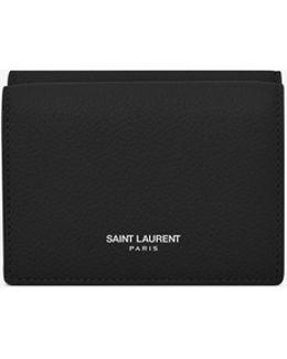 Paris Petite Wallet In Black Grained Leather