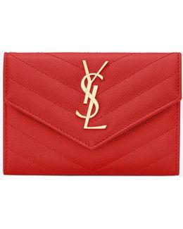 Small Monogram Leather Envelope Wallet