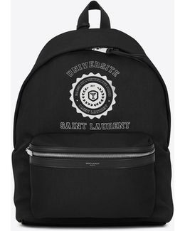 City Université Print Backpack In Black And White