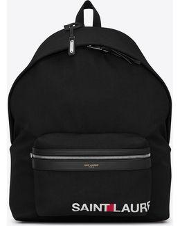 Giant City Print Backpack In Black