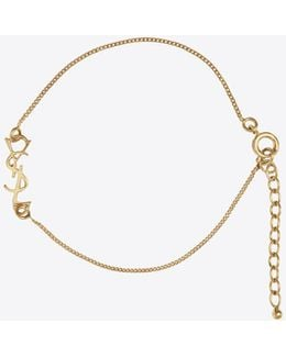 Monogram Charm Bracelet In Gold