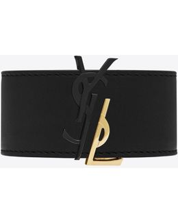 Monogram De Force Bracelet In Gold