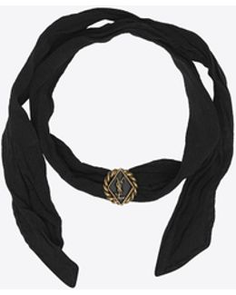 Army Braided Wrap Bracelet In Gold Tin And Brass And Black Enamel And Silk