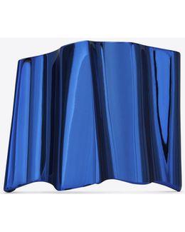 Babylone Cuff In Metallic Blue Brass