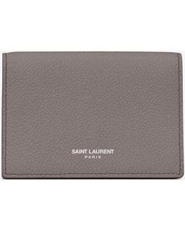 Classic Paris Business Card Case In Fog Leather