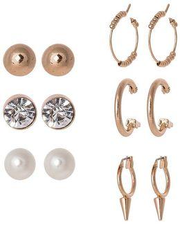 Dwialian 6 Pack Earrings