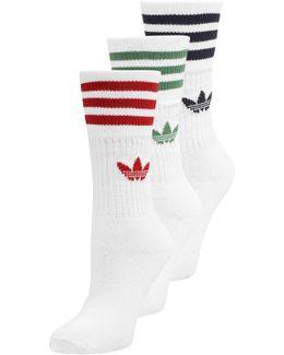 Solid Crew 3 Pack Socks