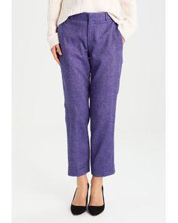Avery Purple Herringbone Trousers