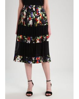 Mindy Floral Pleated Skirt