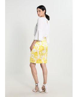 Ginger Floral Pencil Skirt
