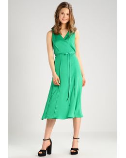Sleeveless Vee Neck Wrap Dress