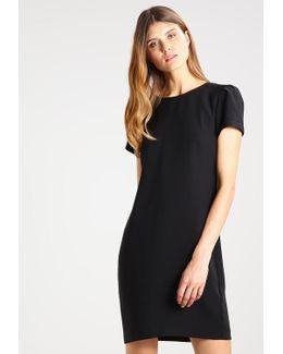 Puff Sleeve Shift Solid Summer Dress