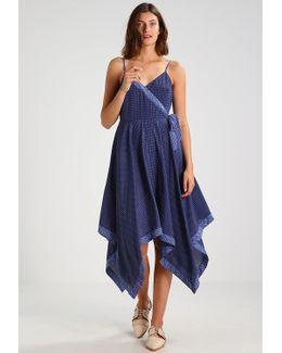 Strappy Melissa Geo Tie Side Hem Summer Dress