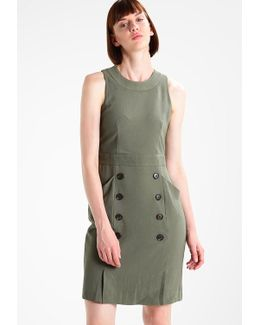 Utility Button Front Shift Dress