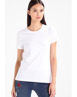 Signature Crew Nathalie Stripe Print T-shirt